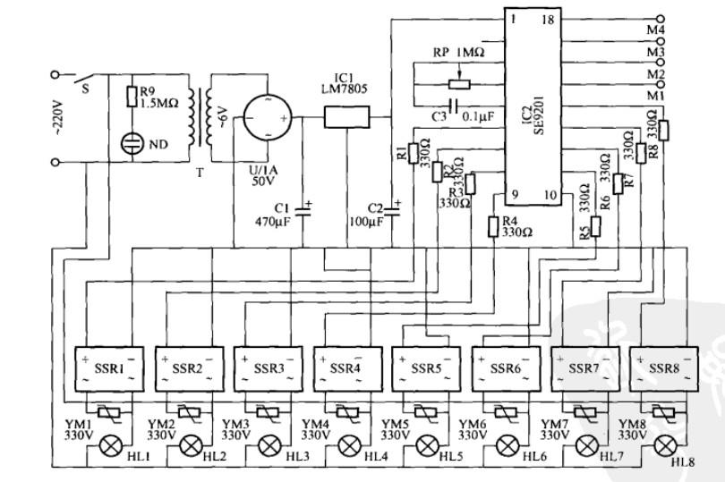 广告灯程控器电路