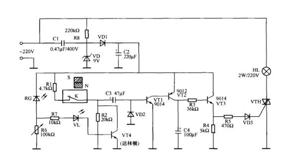 一款门控小夜灯控制电路
