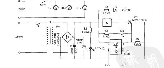 一款自动补光控制器电路