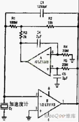 加速度传感器放大电路图