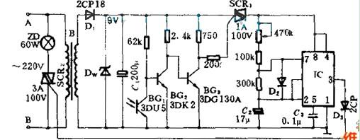 安全信号灯电路图