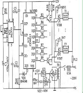 霓虹灯控制电路图