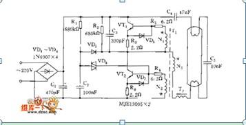 实用型电子整流器电路图