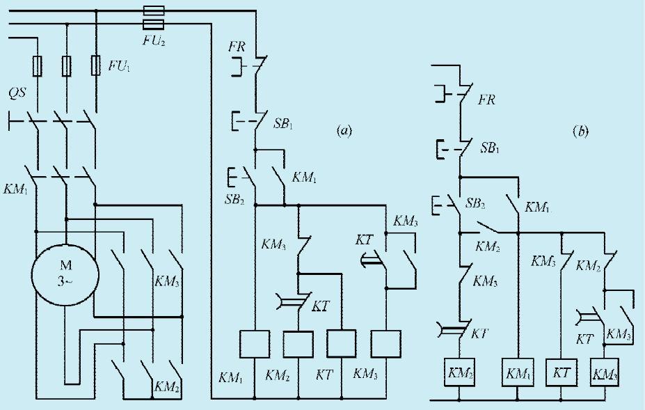 一款星形三角形主动切换发动电路