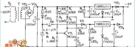 供电电源自动转换电路图