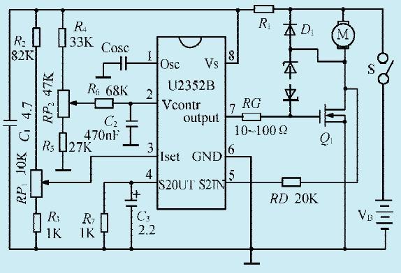 一款直流电机速度操控电路