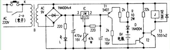 6v电瓶自动充电器电路图