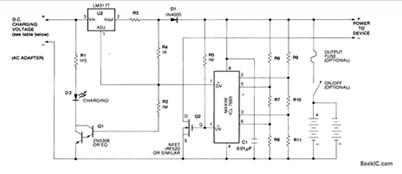 锂电池充电器电路图