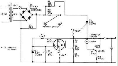 12V的单结型晶体管充电器电路图