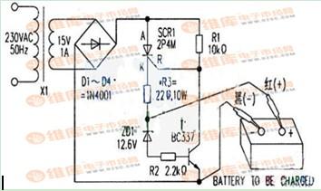 自动电池充电器电路图
