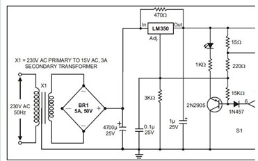 最大电流的电池充电器电路图