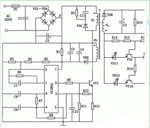 电动自行车蓄电池充电器电路图
