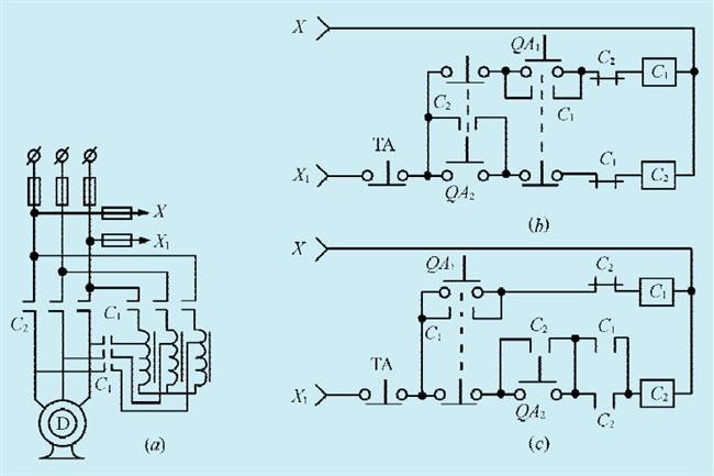 接触器自保持电路图
