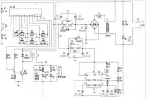 多功能定时器电路图