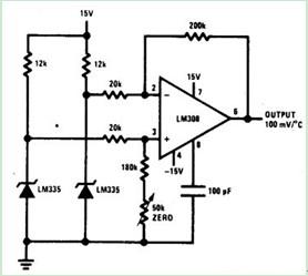 差分温度传感器电路图