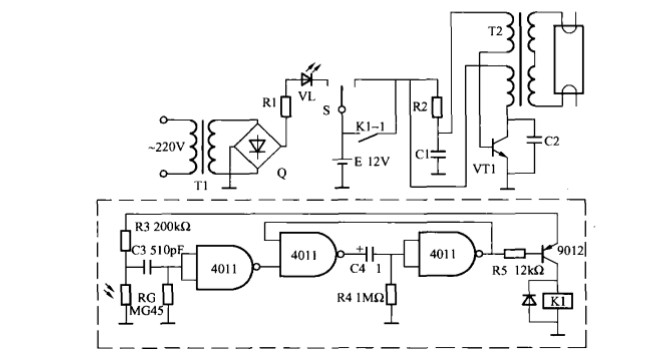 本文介绍的应急灯是在普通应急灯上加装一光控电路使其具有光控功能