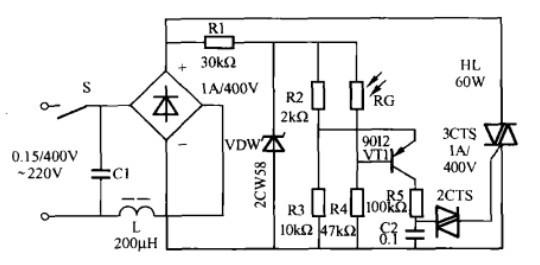一款自动调光台灯控制电路(一)