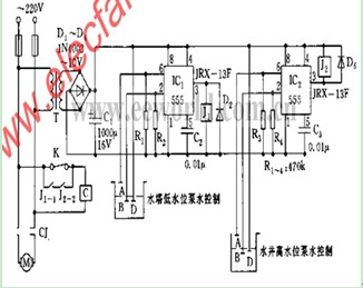 水位控制器电路图