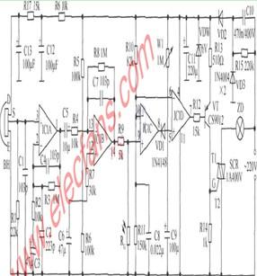 水塔水位控制器电路图