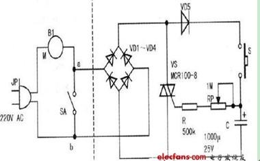 吊扇电容器接线图