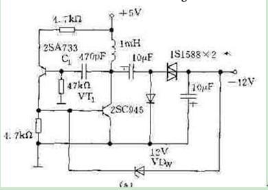 分立元件直流升压电路图