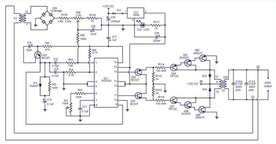 PWM逆变器工作原理电路图