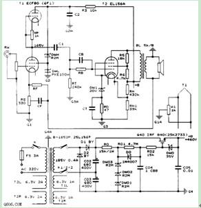 25W单端甲类胆机电路图