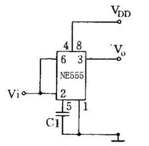 一款具有一定的输出功率可直接驱动继电器555时基电路图