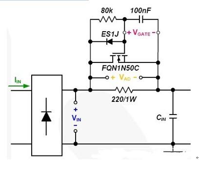 8W灯泡的有源阻尼电路图