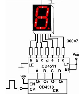 数码管驱动接线图
