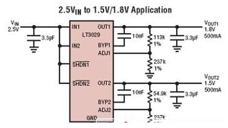 LT3029应用电路图