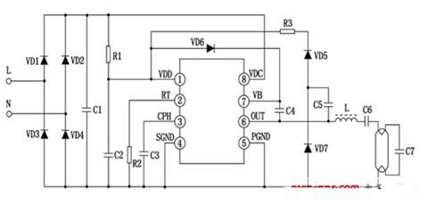 紧凑型荧光灯电路图