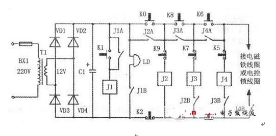 简易密码锁电路图