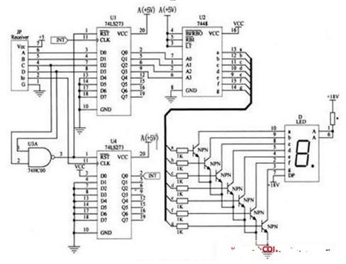 遥控抢答器电路图