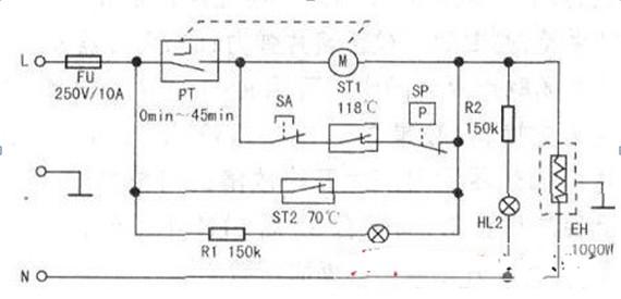 电压力锅原理分析电路图