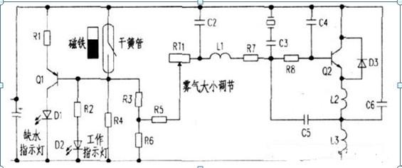 加湿器工作原理电路图