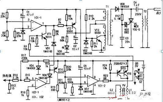 广泛的燃气热水器电路图