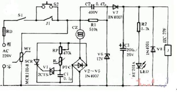 自动保护恒温器电路图