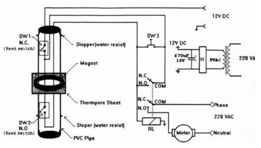 民用建筑用水池的高低水位控制的水位控制器电路图