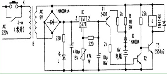 自动充电器电路图