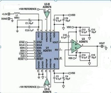 一款为了提高仪器仪表系统的精度的DAC 1ppm模数转换精密仪器的设计电路图
