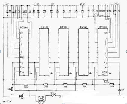 光带式模拟温度计电路图