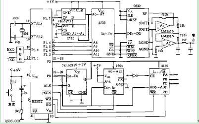 可编程正弦波信号发生器电路图
