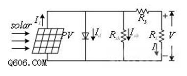 光伏电池等效电路图