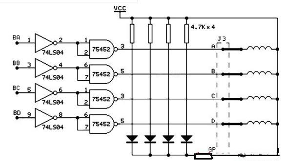一款适用于微电脑控制步进电机的步进电机及其驱动电路图