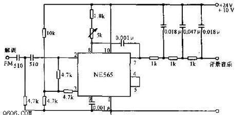放大了的交流电压还原为直流电压的sca解调器电路图