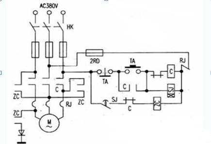 电动机能耗制动电路图