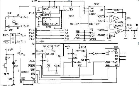 一款在10Hz~1kHz范围内的频率可精确程控的可编程正弦波信号发生器电路图