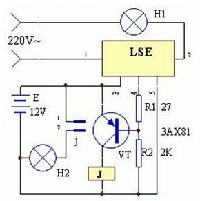 一款采用LSE设计全自动化的应急照明灯电路图