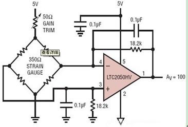 差分桥式放大器电路图